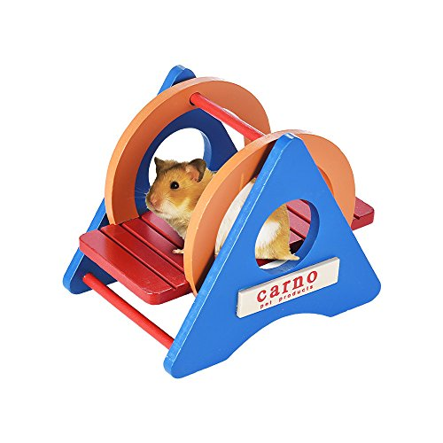 Decdeal carno Hamster Wippe Hamster Spielzeug aus Holz