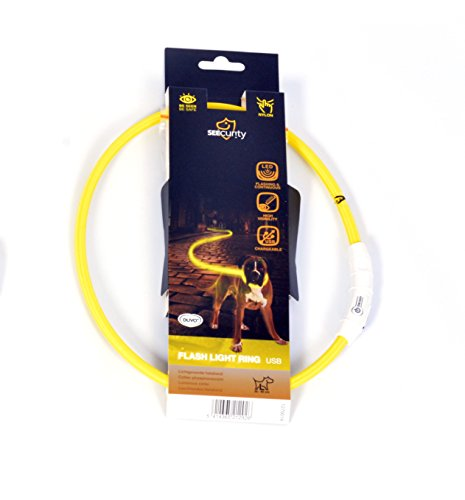 DUVO+ 1270008 Ring Flash Leuchtring USB Nylon, gelb