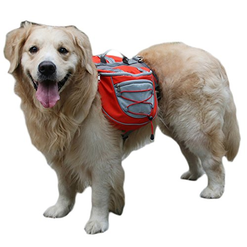 Hunderucksack Schultertasche für Hunde MUMENG Reisen Camping Wandern Transportbox Haustiertasche tragbar Tasche Best Waterproof Breathable Quick Release Carriers S / M / L
