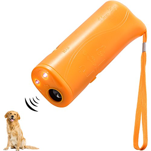 LED Ultraschall Hunde Repeller und Trainer Gerät 3 in 1 Anti Bellen Stop Rinde Handheld Hunde Trainingsgerät