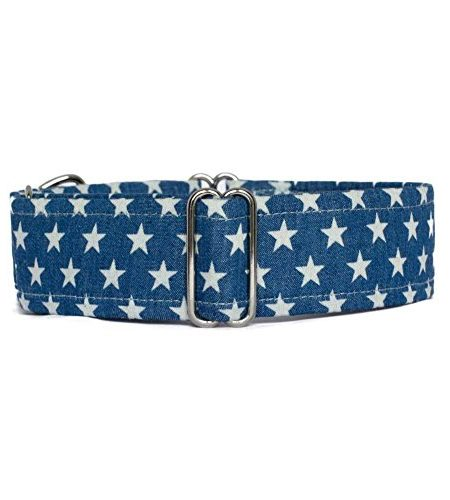 Noddy & Sweets Hundehalsband Martingale, [Denim Stars]