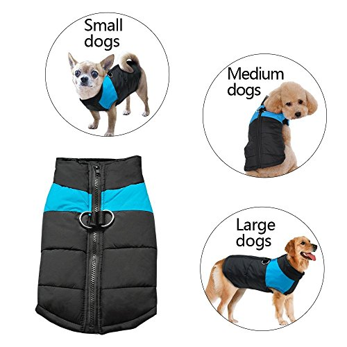 SUPEREX® Hundemantel wasserdicht Hundepullover Winterjacke Hundebekleidung Hundejacke Wintermantel Pet Dog Coat Jacket