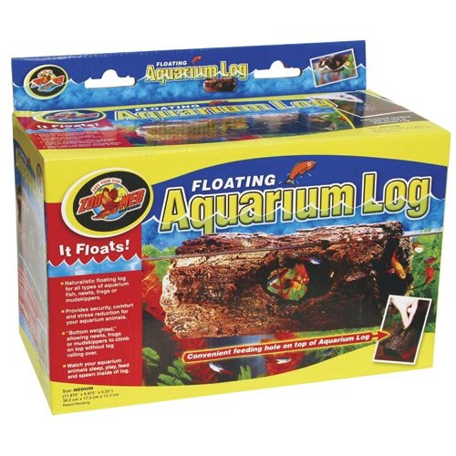 Zoo Med Floating Aquarium Log MED, Aquariendekoration, schwimmendes Versteck für Fische