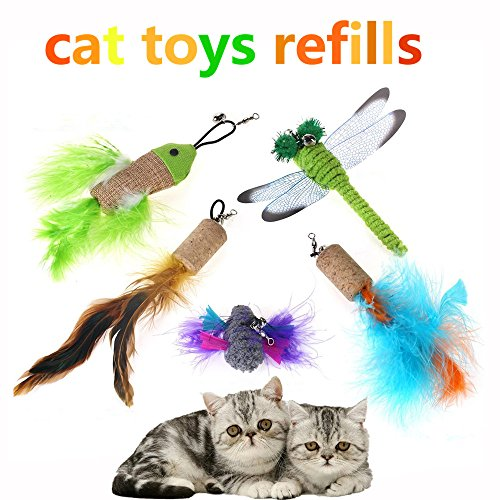 feather refills and cat wand