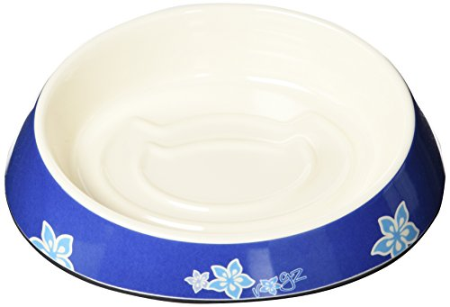 Rogz Melamine Cat Bowl – Fishcake Blue Floral