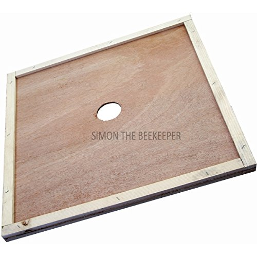 Simon The Beekeeper SIMON den Imker British National polyhive Krone Board mit Central Loch – 500 mm x 500 mm