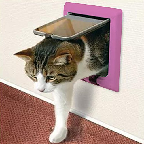 Zantec Pink Pet Flap Hund Katze Tür Pet Care Supplies Pet Spielzeug
