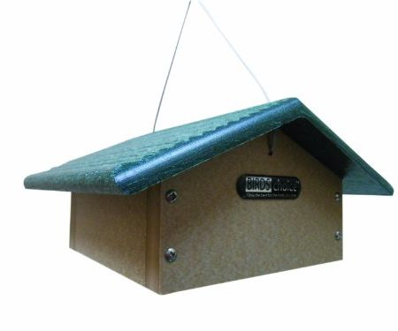 Birds Choice Single Kuchen Upside Down Suet Feeder mit grünem Dach